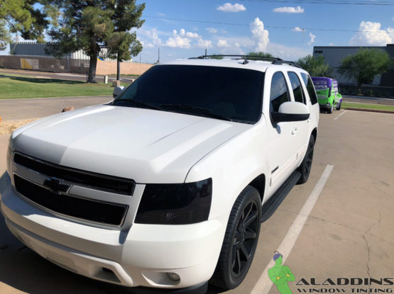 2011 Chevy Tahoe c5-xp5-cir40 + Headlight Tinting