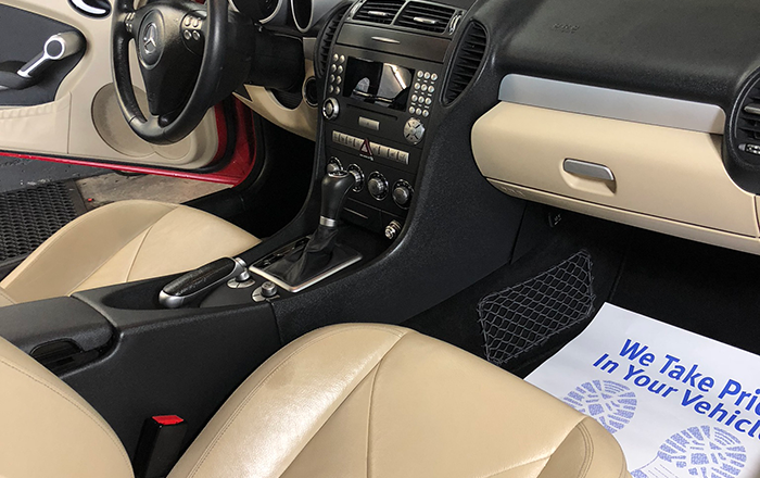 car detailing interior mercedes