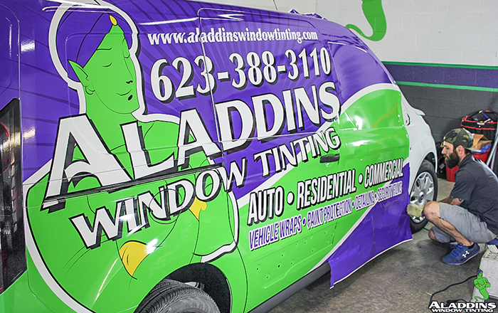 fort transit complete vehicle wrap aladdins window tinting